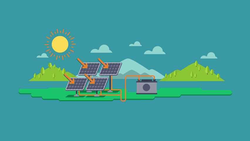 Solar Panels Energy System Infographic Stock Footage Video (100%  Royalty-free) 33483562 | Shutterstock