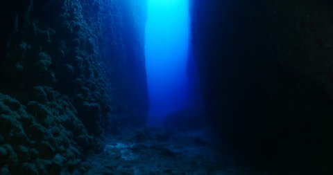 tunnels and caves underwater