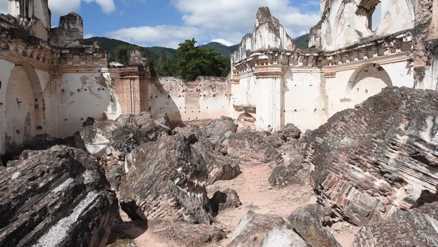 Antigua, Guatemala. La Recolección Architectural Complex former church and monastery of the Order of the Recollects. Sightseeing object in Antigua, Guatemala.