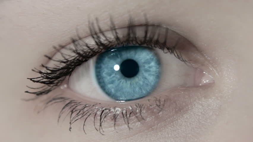 open female girl blue eye zoom out, 1080p
