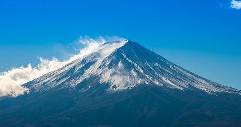 Timelapse Of Fuji Mountain Japan 4k