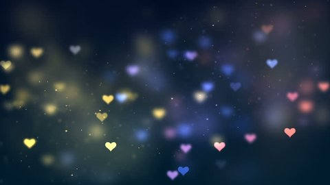 Loving Hearts Animation Background. Computer generated abstract motion background. Perfect to use with music, backgrounds, transition and titles.