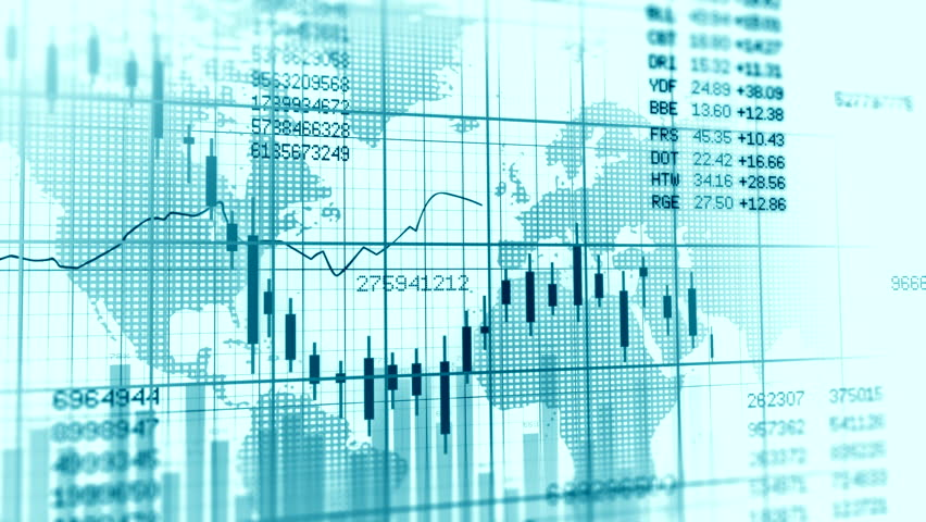 Stock Exchange Market Background. Stocks Report. Stock Market Trading Rates | Shutterstock HD Video #33805582