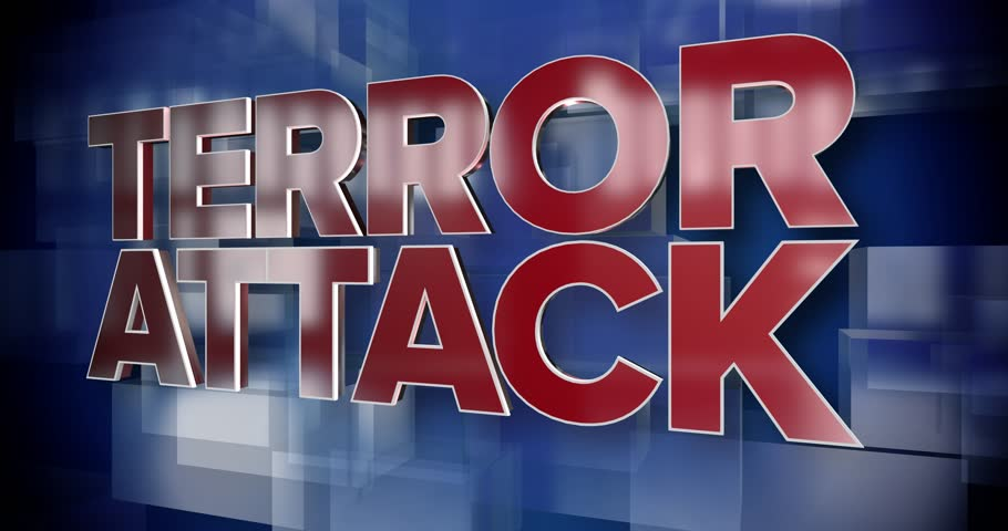 A red and blue dynamic 3D Terror Attack title page background animation.  	 | Shutterstock HD Video #33811042