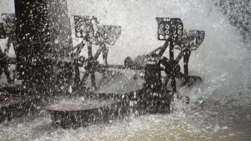 water turbine in public park, video Footage