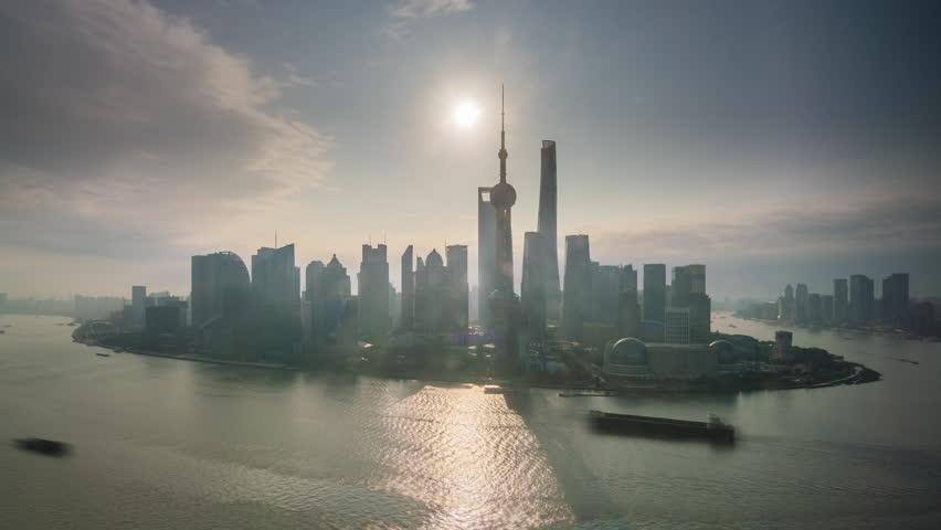 4k timelapse video of Shanghai at sunrise