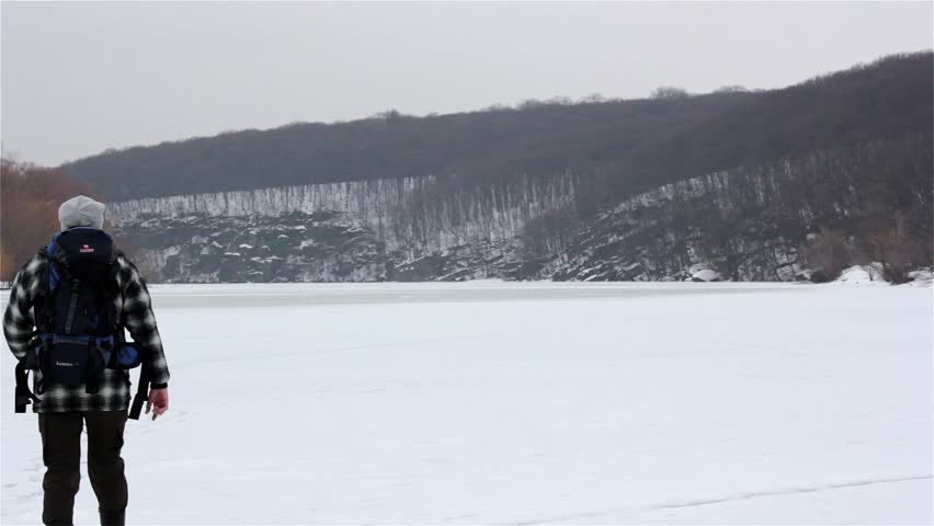 Tourists travel in winter | Shutterstock HD Video #3393452