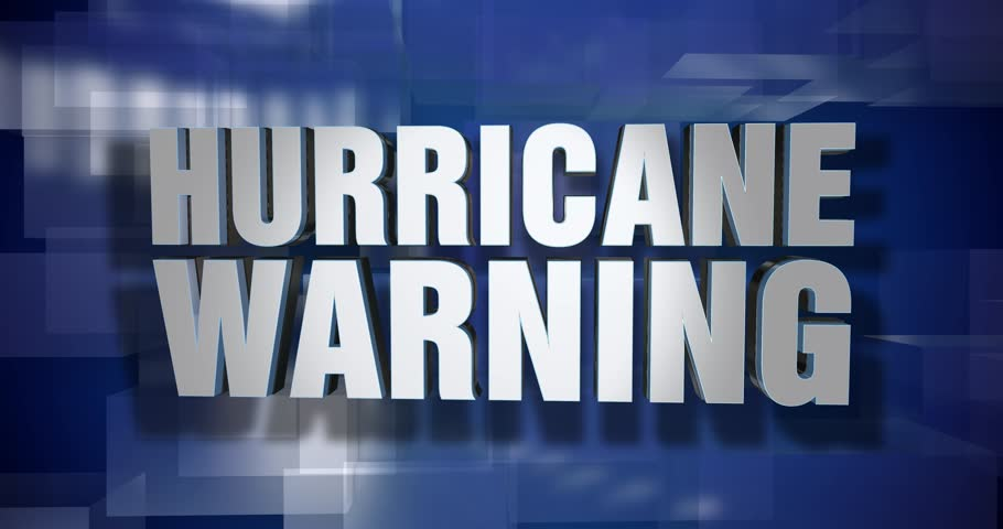A blue dynamic 3D Hurricane Warning transition and title page animation. 5 and 2 second options included with optional luma matte for both.  | Shutterstock HD Video #33987052