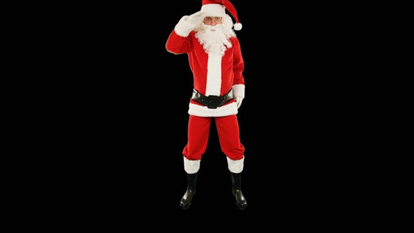 Santa Claus Dancing, Merry Christmas ribbon | Shutterstock HD Video #33998572