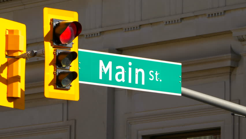 4K Main Street Sign, United States of America Intersection, Town Traffic Light | Shutterstock HD Video #34030822