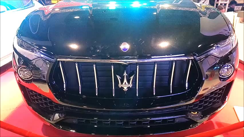 MANILA, PH - NOV. 30: Black Maserati Ghibli car at Manila Auto Salon on November 30, 2017 in Manila, Philippines. Manila Auto Salon is a annual gathering exhibit for automotive aftermarket industry.