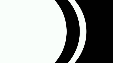 Abstract CGI motion graphics and animated background with white and black round figures.