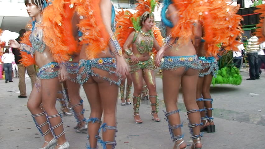 SESIMBRA, PORTUGAL - FEBRUARY 24: Brazilian Carnival, celebrating the carnival event February 24, 2009 in Sesimbra, Portugal