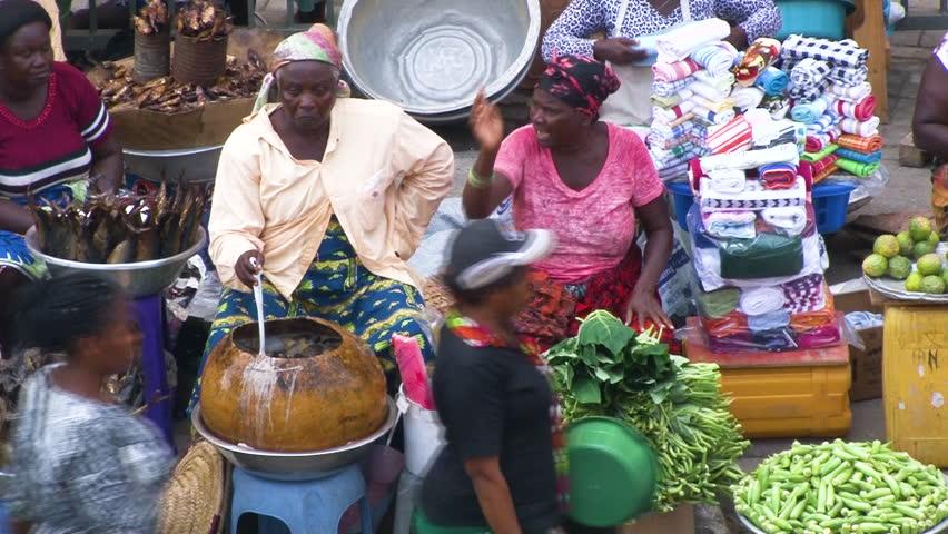Ghana Makola Market in Accra Stock Footage Video (100% Royalty-free)  34109062 | Shutterstock