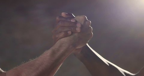Two friends shake hands as a sign of friendship, team, because together we have more strength and we are more united.