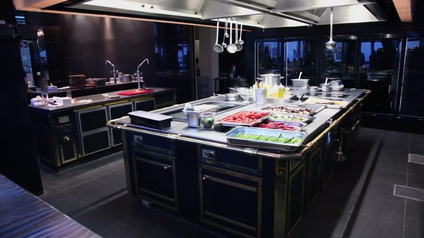 Restaurant Kitchenware kitchen of the restaurant with different kitchenware stock footage