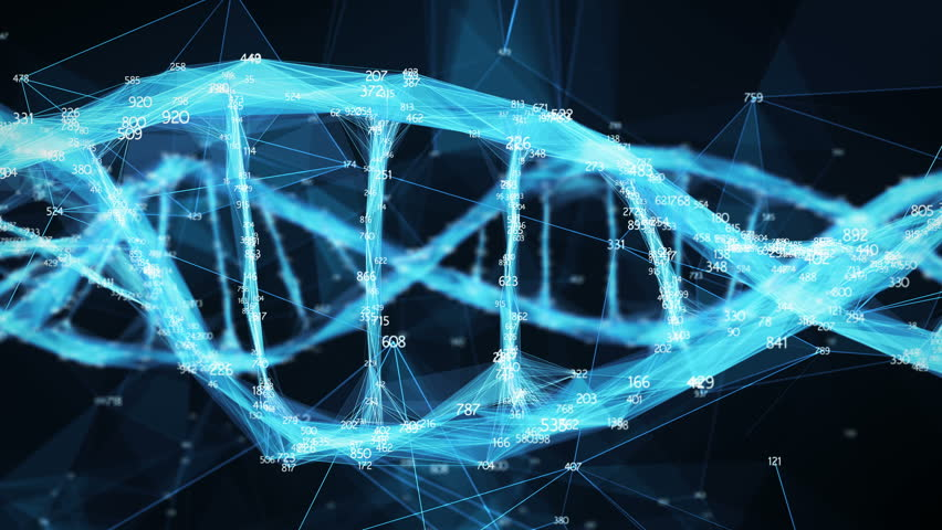 Abstract Digital polygon random digits plexus DNA molecule For visuals, biology, biotechnology, chemistry, science, medicine, cosmetics, motion background, medical dashboard Seamless Loop | Shutterstock HD Video #34197742