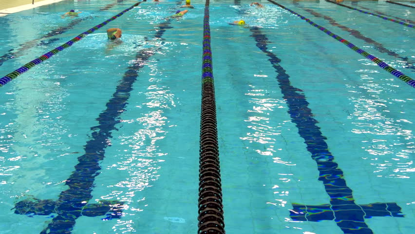 swimming pool lane lines background. 4K Swimming Pool Lanes, Blue Water Race Competition Sport Background Slow Motion - Stock Lane Lines B