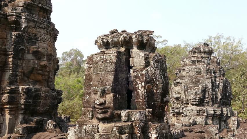 Panorama of the ancient Angkor Wat at Siem Reap, Cambodia. #34216312
