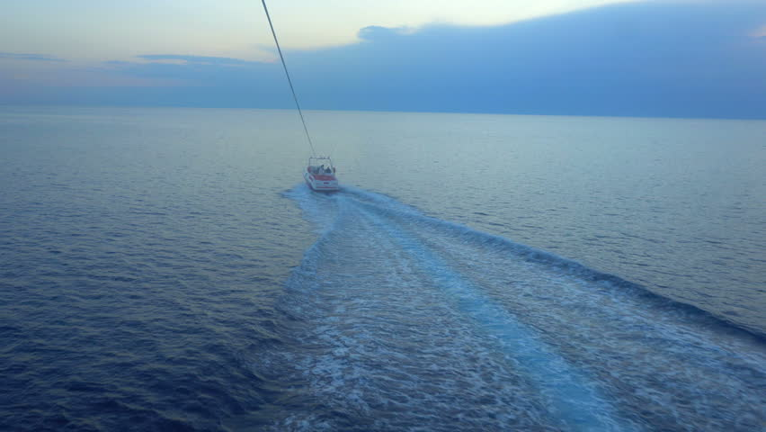 Parasailing above the Mediterranean sea. | Shutterstock HD Video #34351192