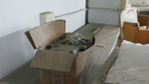 Samples in abandoned hospital