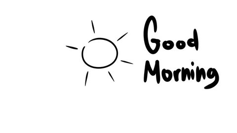Good Morning. Sunshine cartoon animation.