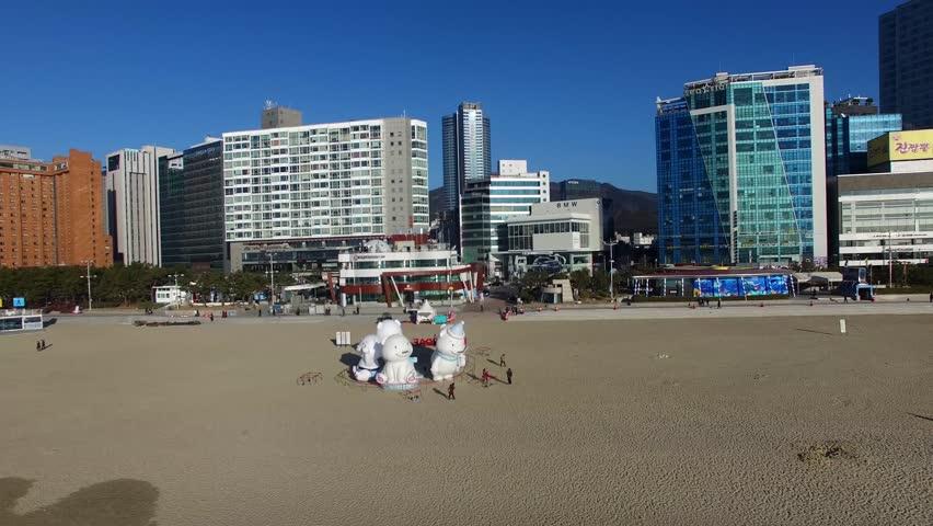 Haeundae Beach Cityscape When New Year | Shutterstock HD Video #34506472
