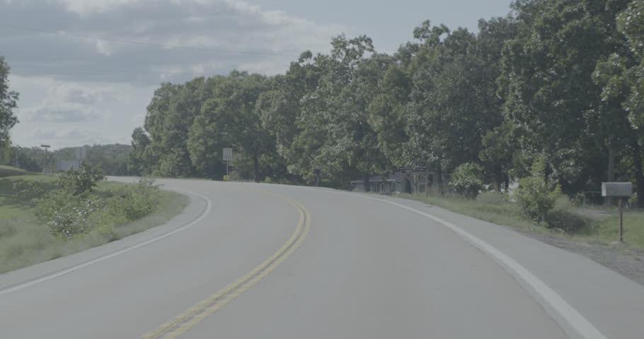 Driving POV around Lake of the Ozarks; Day