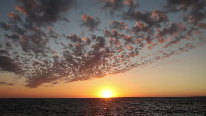 Sunset over the Gulf of Mexico in Naples Florida, with birds flying past the sun  | Shutterstock HD Video #34550452