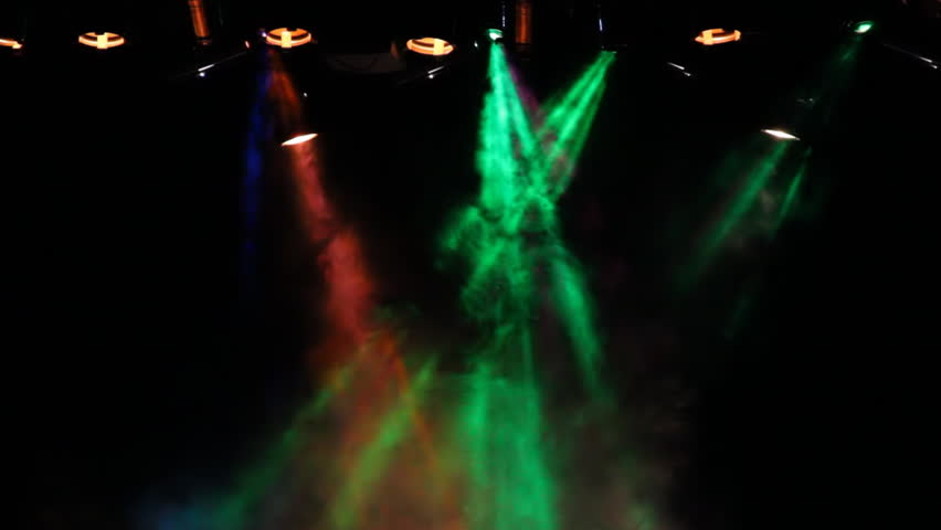 Backstage multicolor lights show