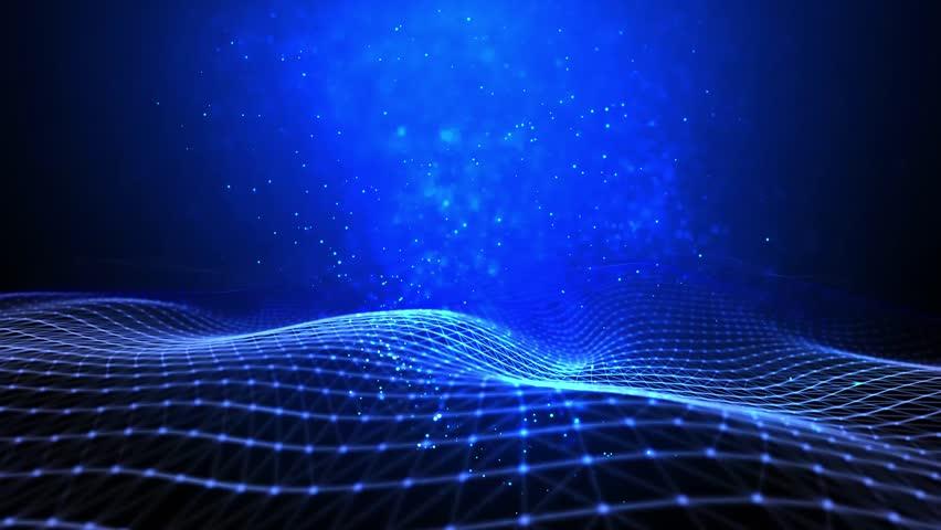 Plexus technology wave background | Shutterstock HD Video #34643692