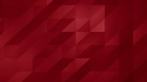 Red triangle polygons background. Computer generated seamless loop geometric background. 4k UHD (3840x2160)