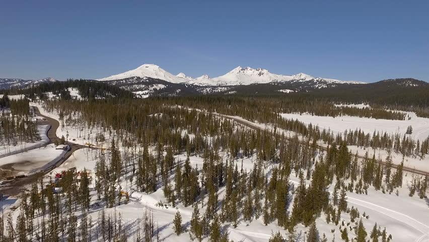 Three Sisters Mountain Peaks Complex Volcano Oregon Cascade Volcanic Arc