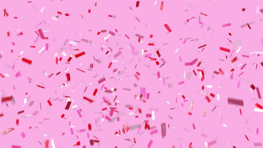 Celebrate! Fun confetti on a pink modern background! Loopable. Multi-color ticker tape style confetti falls and clears frame. See portfolio for similar and so much more! | Shutterstock HD Video #34807402