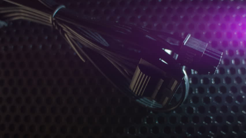 Computer cables close-up at night   Shutterstock HD Video #34818052