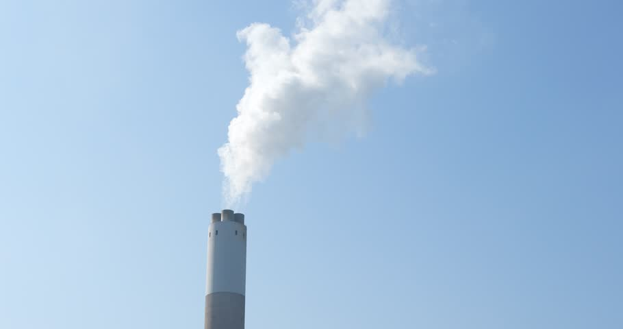 Smoke stack with smoke