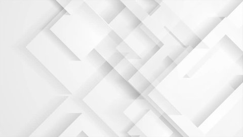 Abstract light grey technology geometric motion graphic design. Seamless looping. Video animation Ultra HD 4K 3840x2160
