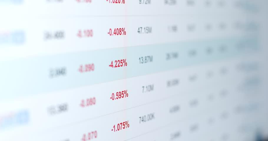 Stock market data information | Shutterstock HD Video #34944418