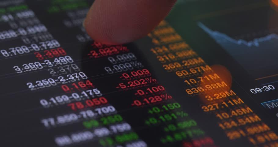 Stock market data on tablet computer | Shutterstock HD Video #34946530