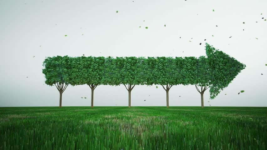 Green tree changed arrow. growth stock market. 2. | Shutterstock HD Video #34948609