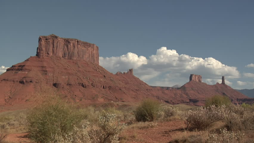 time lapse red rock monuments near Moab Utah