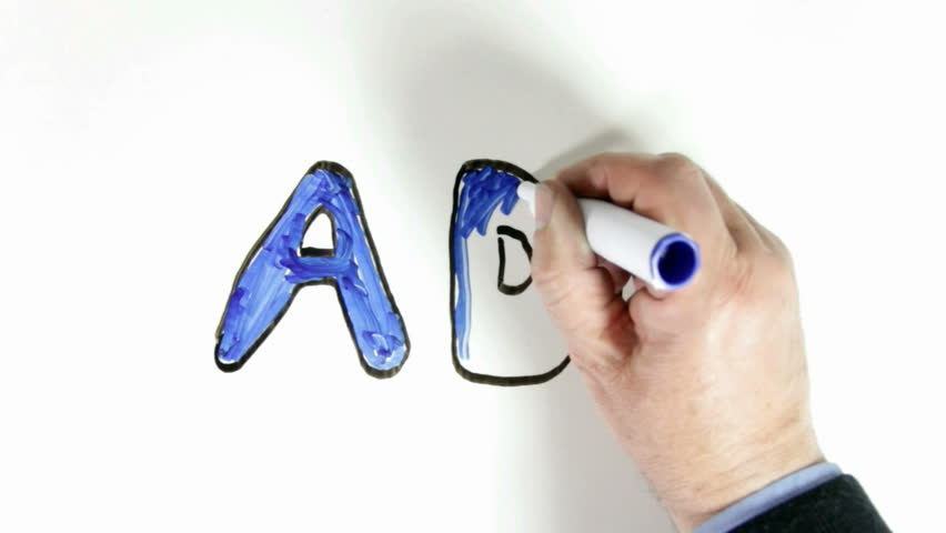 whiteboard time lapse of the word add for topic introduction in whiteboard time lapse of the word add for topic introduction in powerpoint presentations etc add written in black outline then coloured blue
