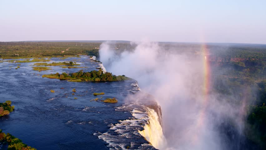 Spectacular aerial view of the Victoria Falls