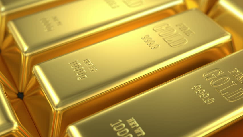 stock of gold, 3d animation