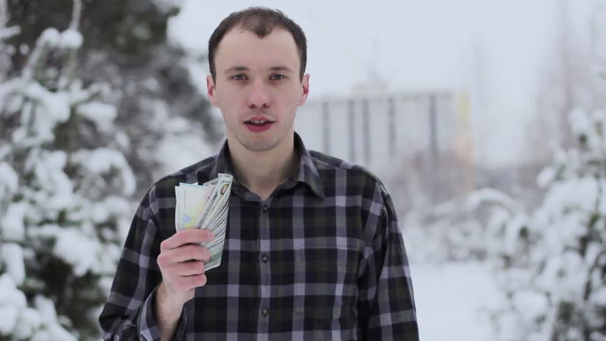 A wealthy guy counts money | Shutterstock HD Video #35038270