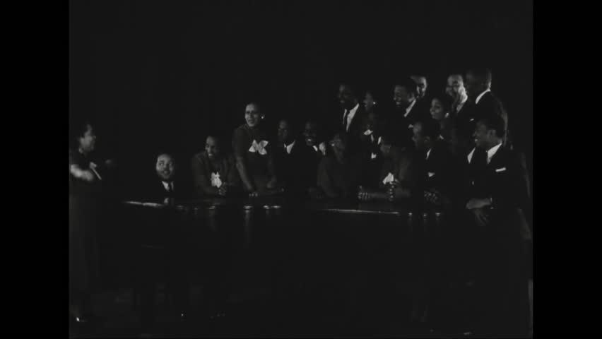CIRCA - 1937 - A theatre group performs Macbeth under through the Work Progress Administration program.   Shutterstock HD Video #35045392