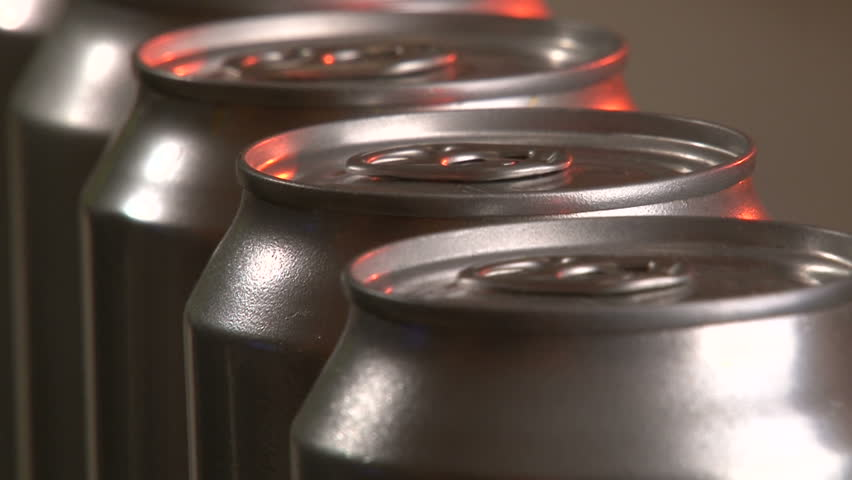 Aluminum Cans, Industry, production line, close up | Shutterstock HD Video #3511322