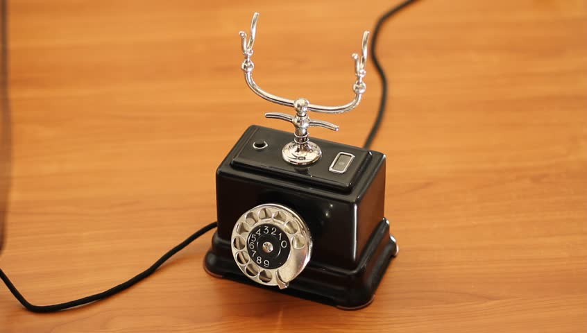 Using a vintage telephone for calling