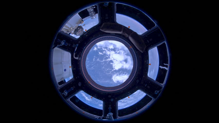 INTERNATIONAL SPACE STATION - CIRCA 2012: Time lapse of earth rotating, as viewed from the International Space Station circa 2012.
