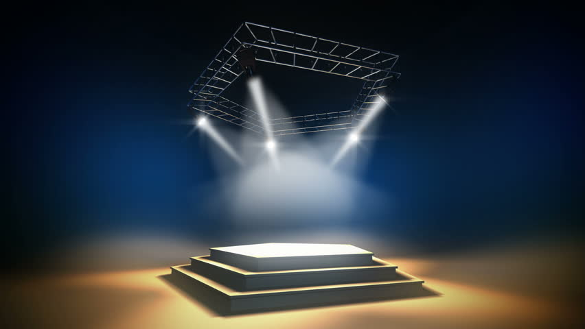 Illuminated Music Stage On a Stock Footage Video (100% Royalty-free)  3529622 | Shutterstock